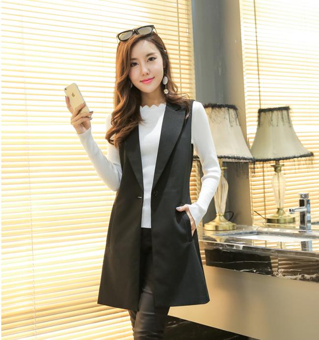 áo gile công sở nữ dáng dài thanh lịch