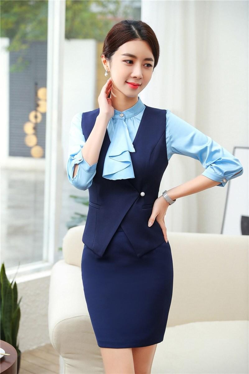 kiểu áo gile công sở nữ phong cách Hàn Quốc