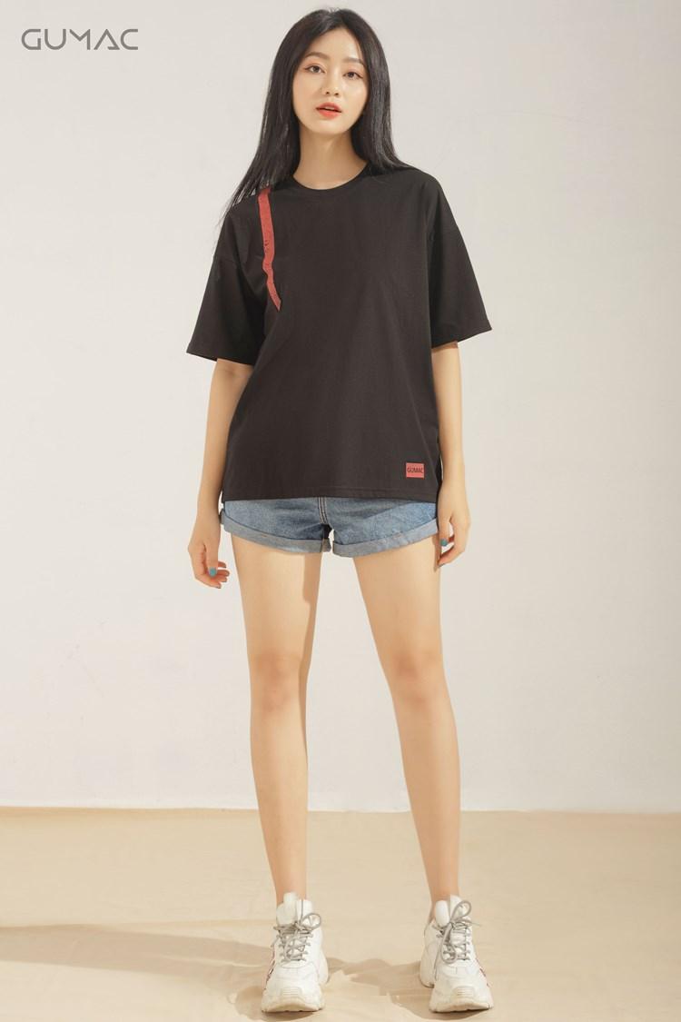 Áo phông oversize màu đen