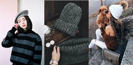 Top 7 cách phối đồ với mũ len CỰC XINH cho mùa đông này