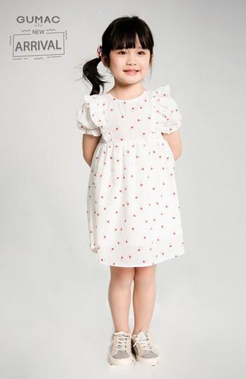 Đầm bé gái bèo vai