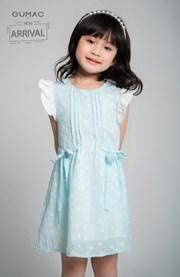 Đầm bé gái nơ eo
