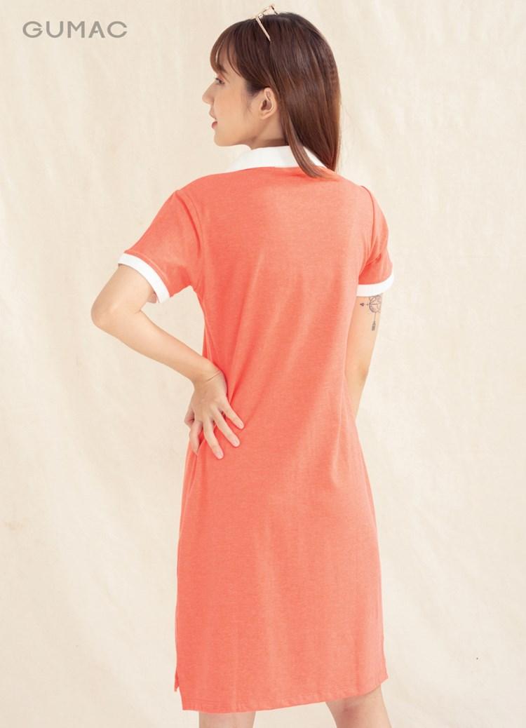 Đầm polo nẹp xẻ V