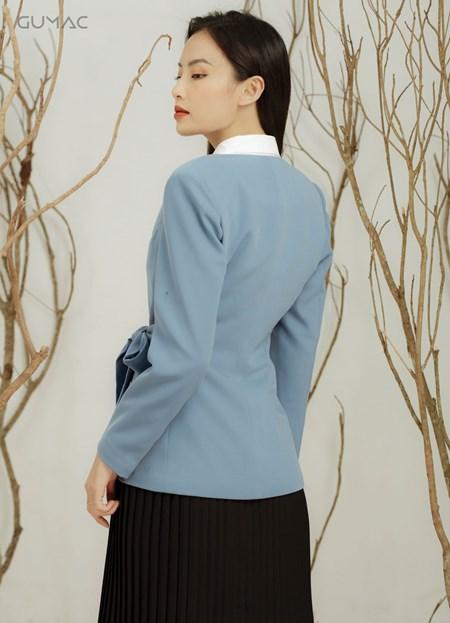 Áo vest xếp ly eo