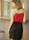 Chân váy lưới kim sa