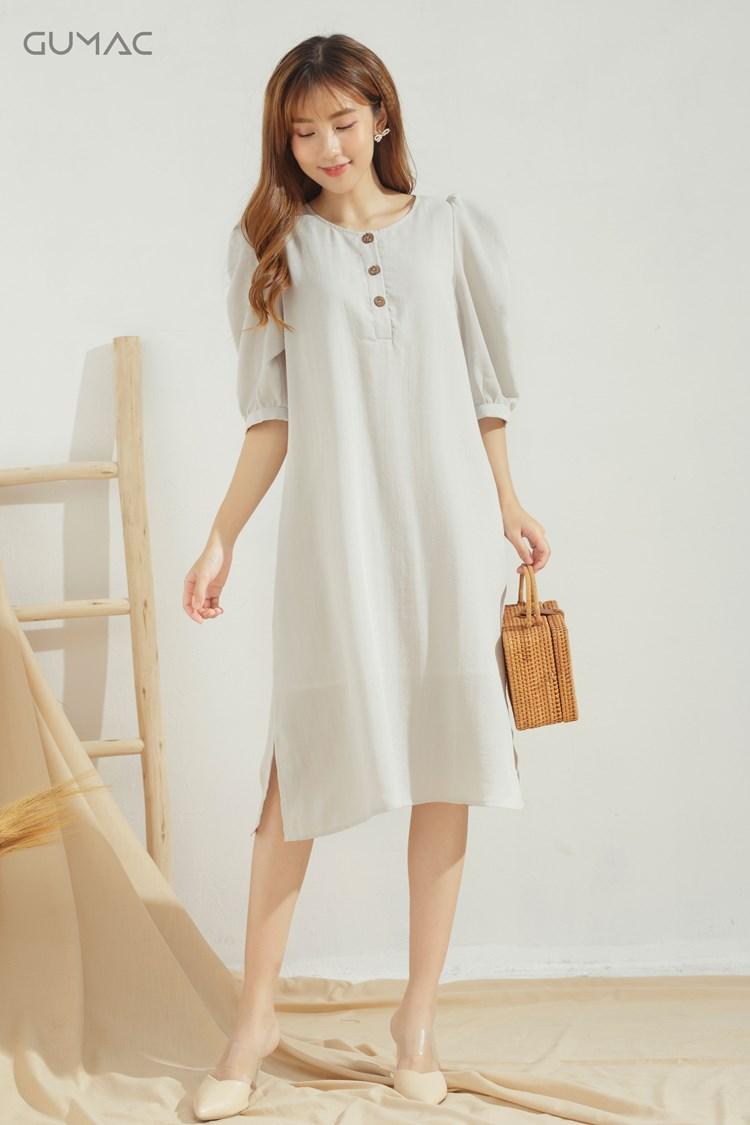 váy đầm rayon lycel màu xanh
