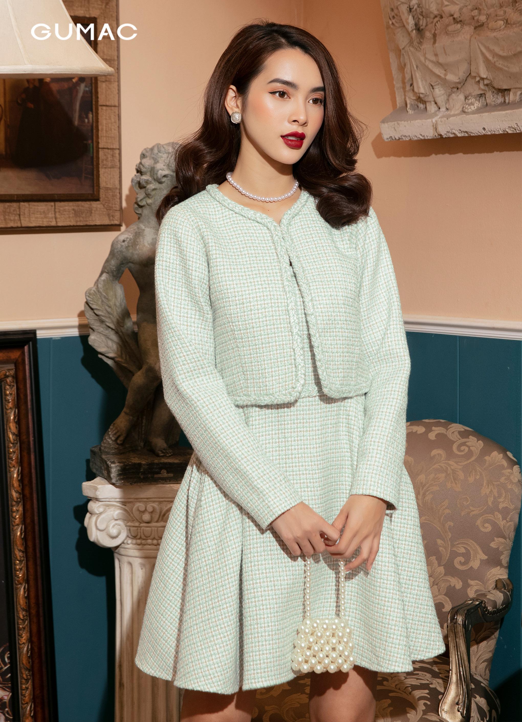Áo Tweed dáng ngắn