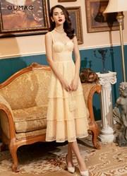 Đầm cúp ngực ren tầng