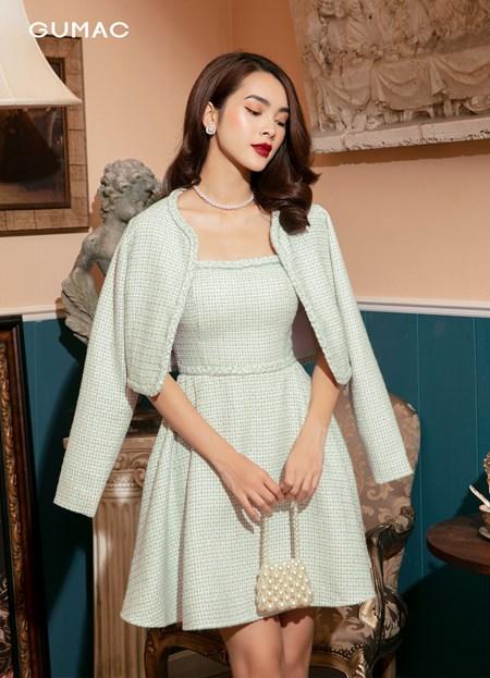 Đầm Tweed 2 dây