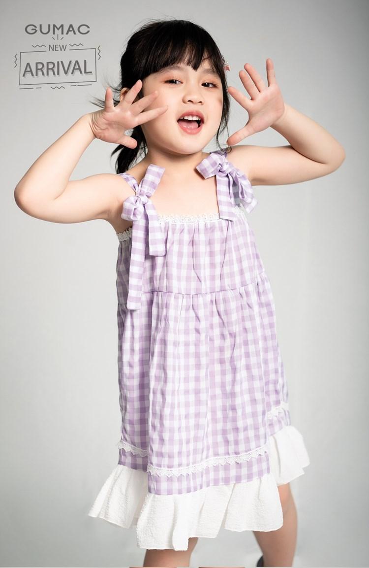 Đầm bé gái dây vai