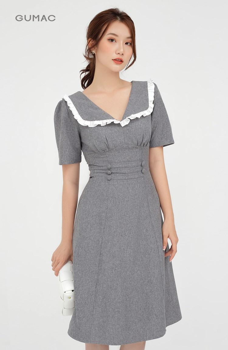Đầm cổ V cúp ngực