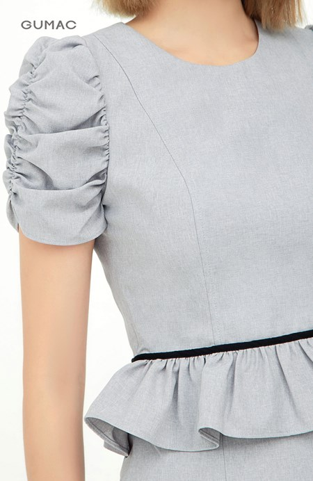 Đầm eo nhún bèo