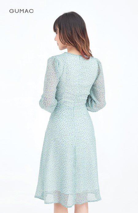 Đầm nơ cổ tay dài