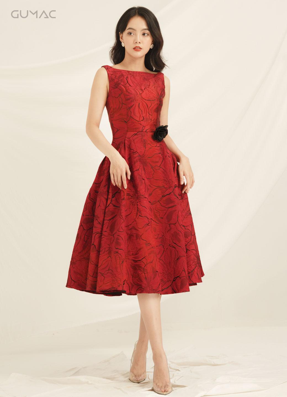 Đầm Luxury rã xếp tùng