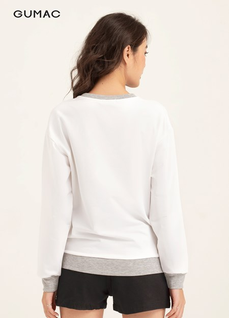 Áo Sweater in vai